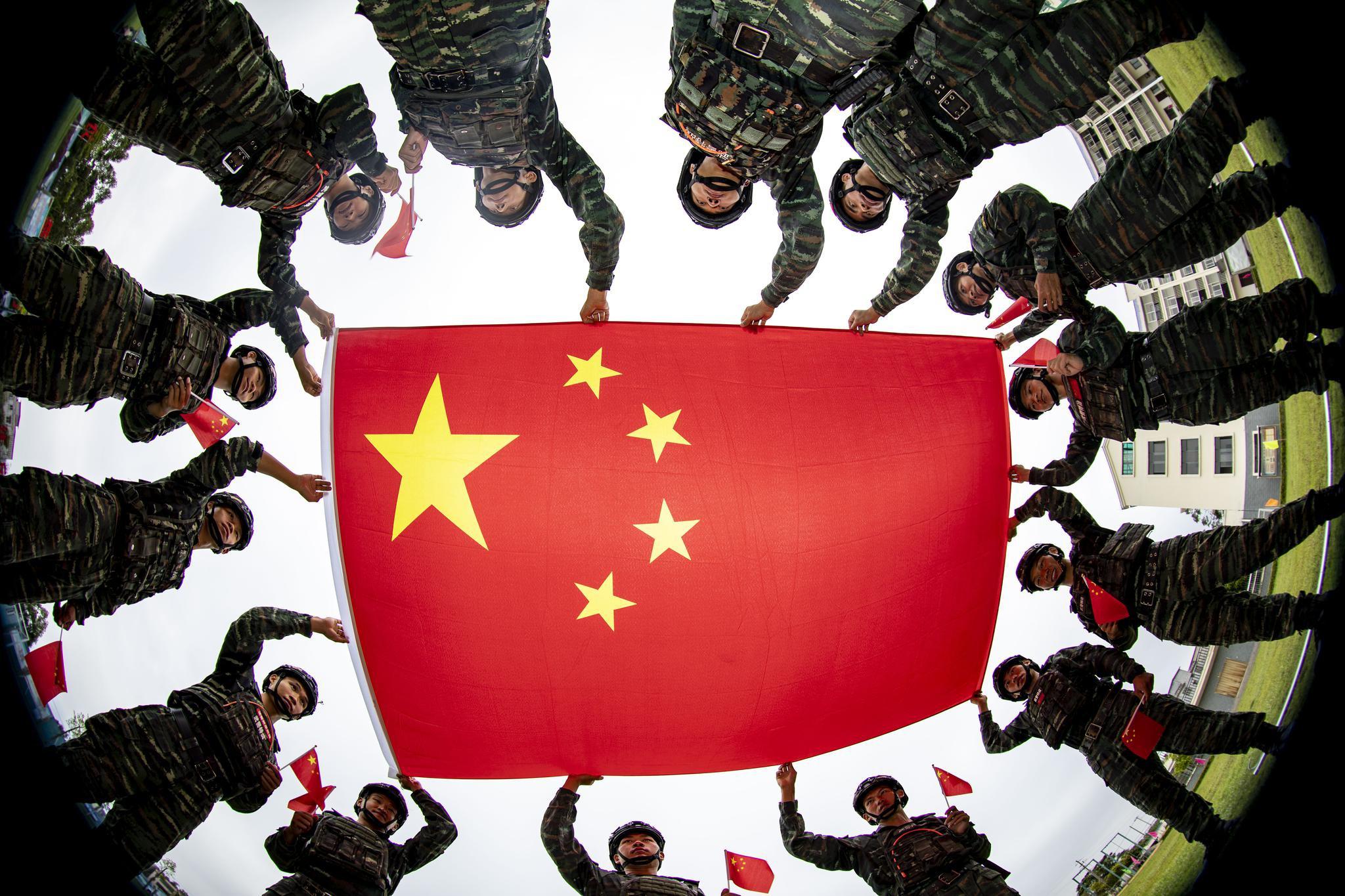 武警广西总队钦州支队:用青春热血向祖国表白图片