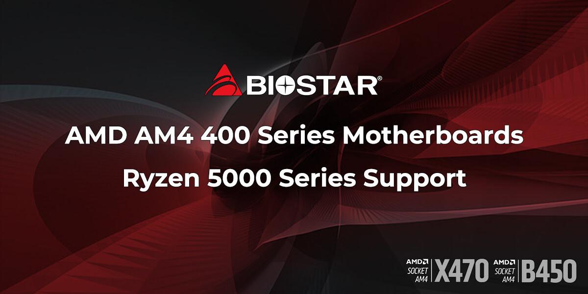 映泰宣布 400 系列主板将支持锐龙 5000 系列处理器