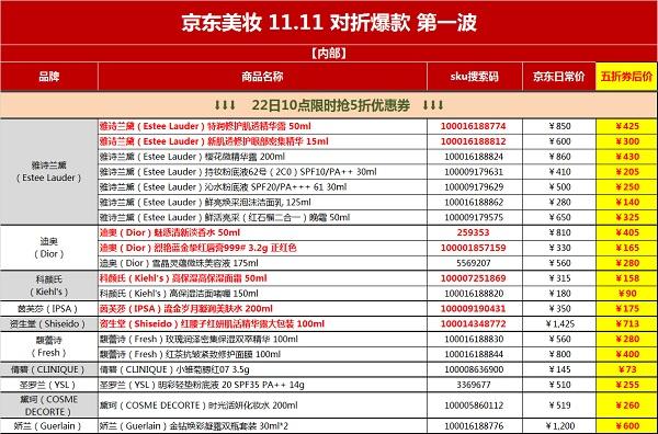 京东11.11美妆对折只为热爱!这份清单让你爱到不可思议