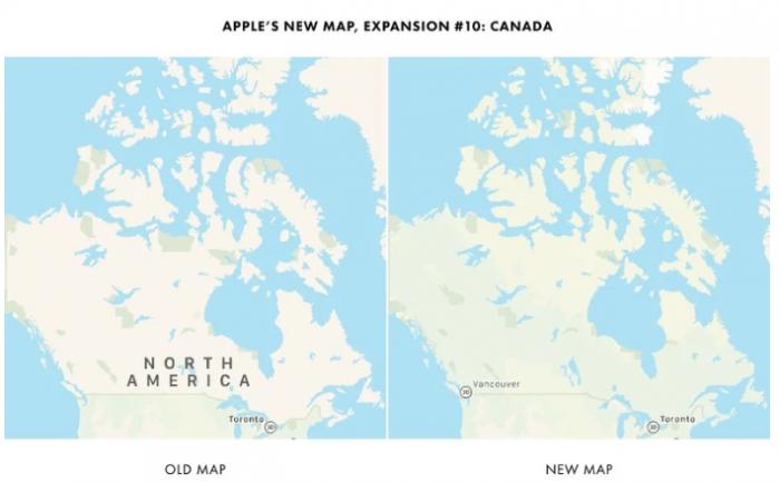 苹果计划将其重新设计的Apple Maps应用扩展到加拿大