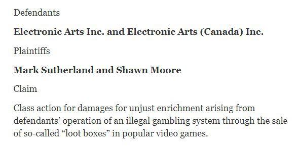 又要坐上被告席? 因游戏开箱问题玩家再度起诉EA