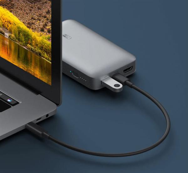 紫米10000mAh多功能移动电源上架:三口50W 自带HDMI