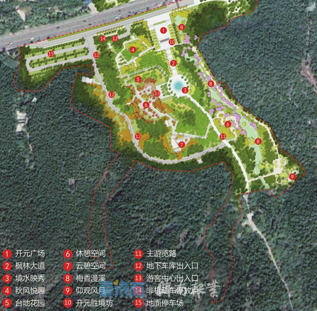 济南开元寺入口生态景观提升方案:营造绿化景观及广场等