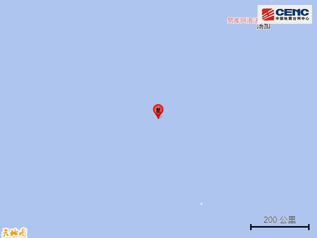 斐济群岛以南海域发生5.8级地震