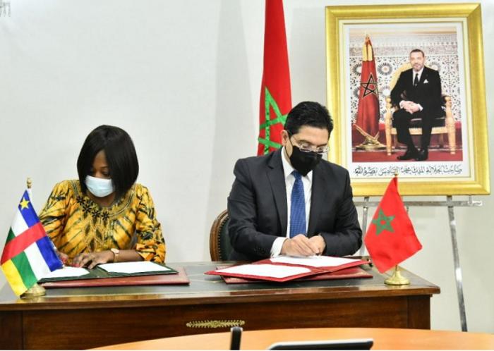 摩洛哥与中非共和国签署三份合作协议