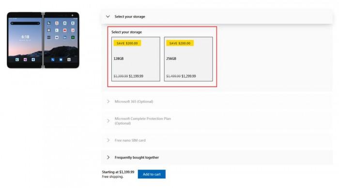 [图]微软和百思买启动Surface Duo限时促销:分别优惠200/300美元