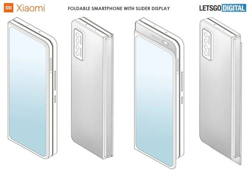 小米折叠屏手机设计专利曝光:向内折叠 正面无开孔