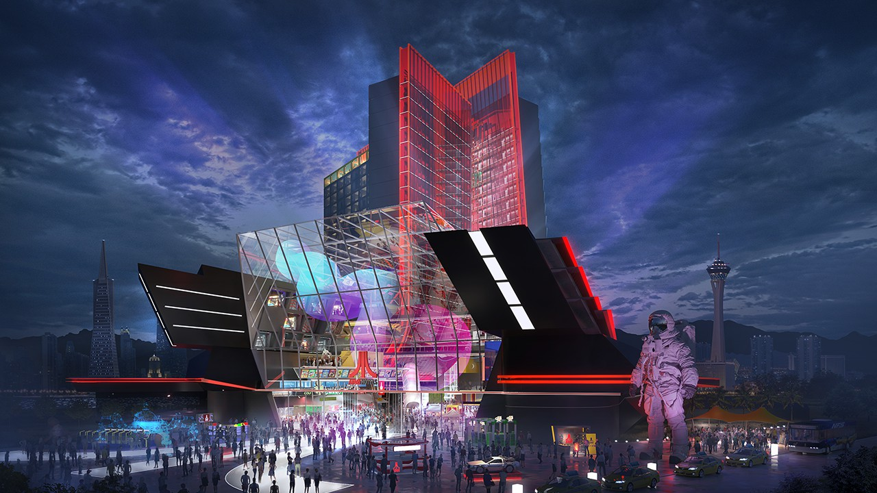 雅达利游戏主题酒店概念图公布 颇有赛博朋克的风格
