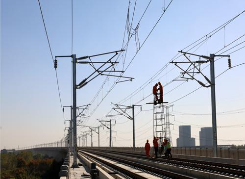 新建徐州至连云港高铁电气化工程进入攻坚阶段图片