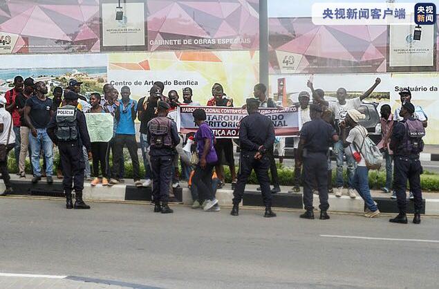 安哥拉违背防疫规则上街游行抗议者在罗安达受审