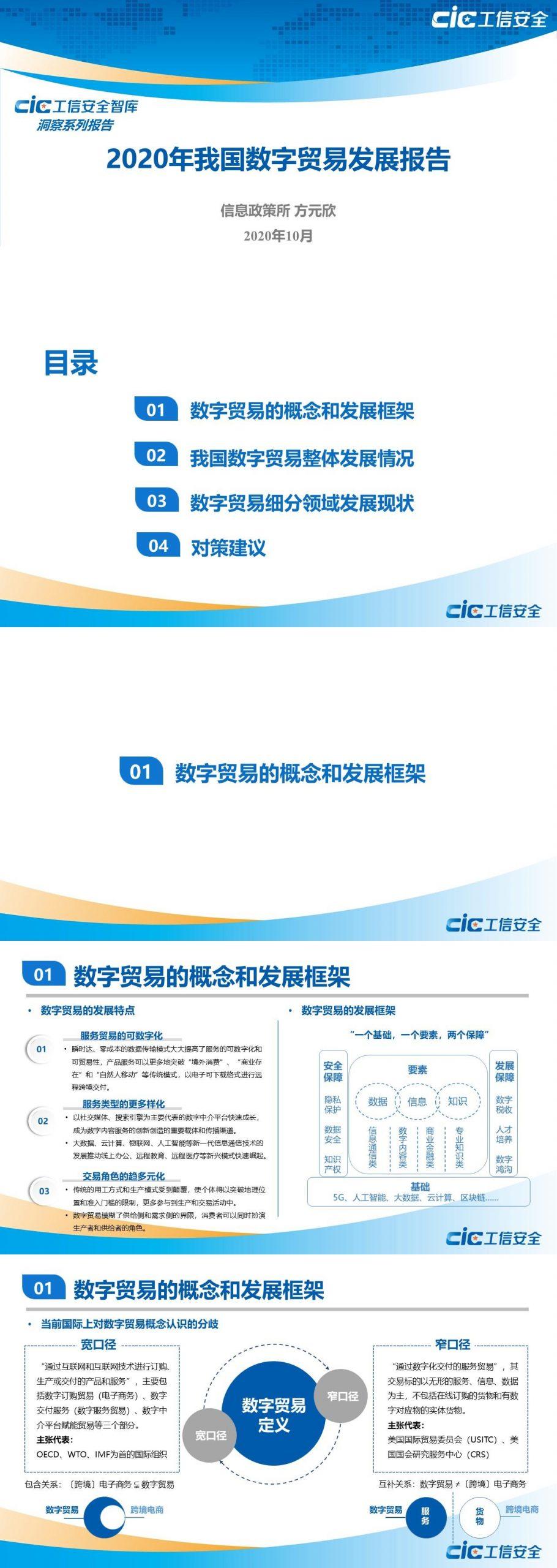 国家工业信息安全发展研究中心:2020年我国数字贸易发展报告