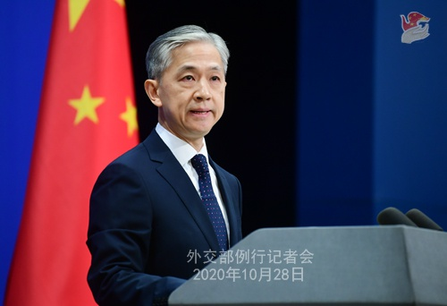 2020年10月28日外交部例行记者会(全文)图片