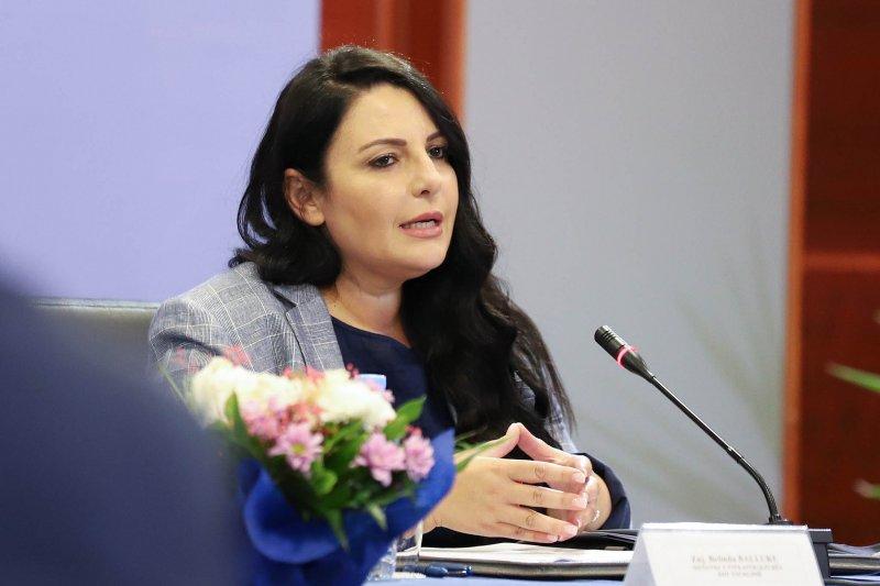 △阿爾巴尼亞基礎設施和能源部長貝琳達·巴魯庫(Belinda Balluku)