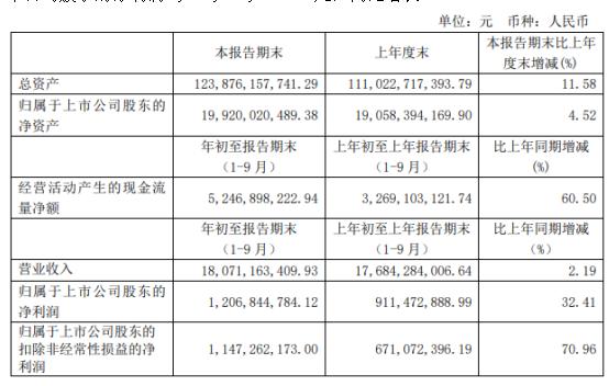上海电力前三季度净利12.07亿增长32.41% 新能源板块发电量较上年同期增加