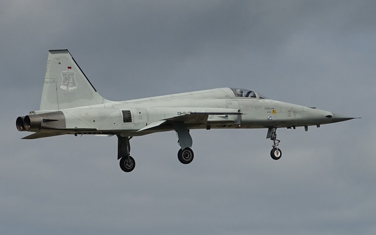F-5E战斗机坠毁后 台军表示2024年要将其全部退役图片