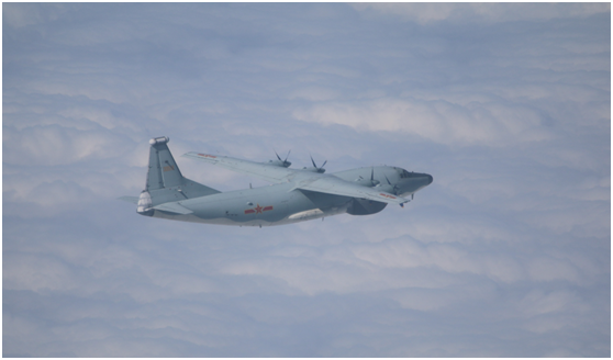 绿媒:解放军军机今早又来,本月至少25天现身图片