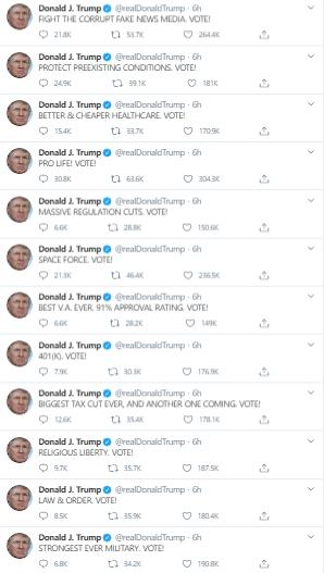 """特朗普再掀""""推特风暴""""、重大声明发布在即?黄金美股""""一柱擎天"""""""