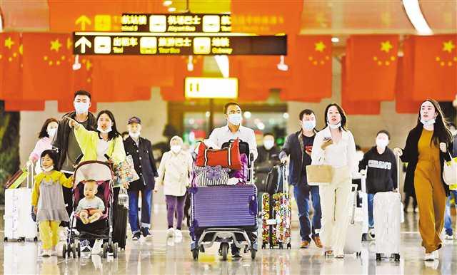 """重庆机场""""双节""""前五日迎送旅客67.4万人次 返程高峰即将开启图片"""