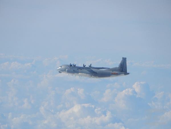 解放军运9型机进入台西南空域