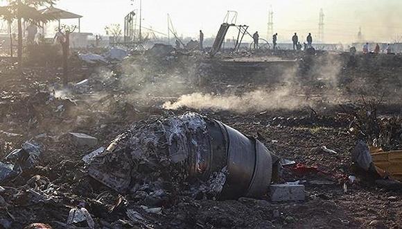 乌克兰航空客机坠毁现场。图片来源:伊朗塔斯尼姆通讯社