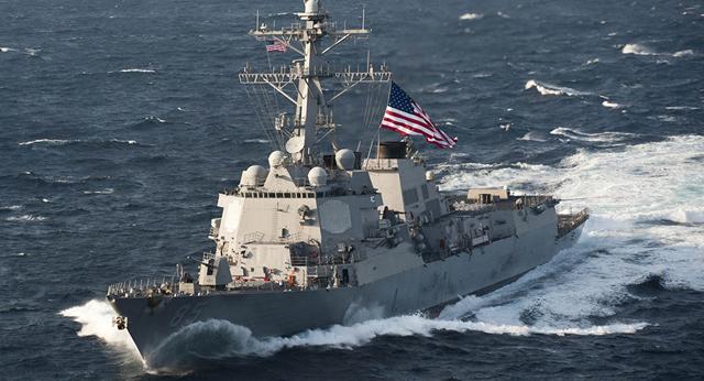 美国海军第一访华细节:入港时不挂满旗 我们立马撤了仪仗队