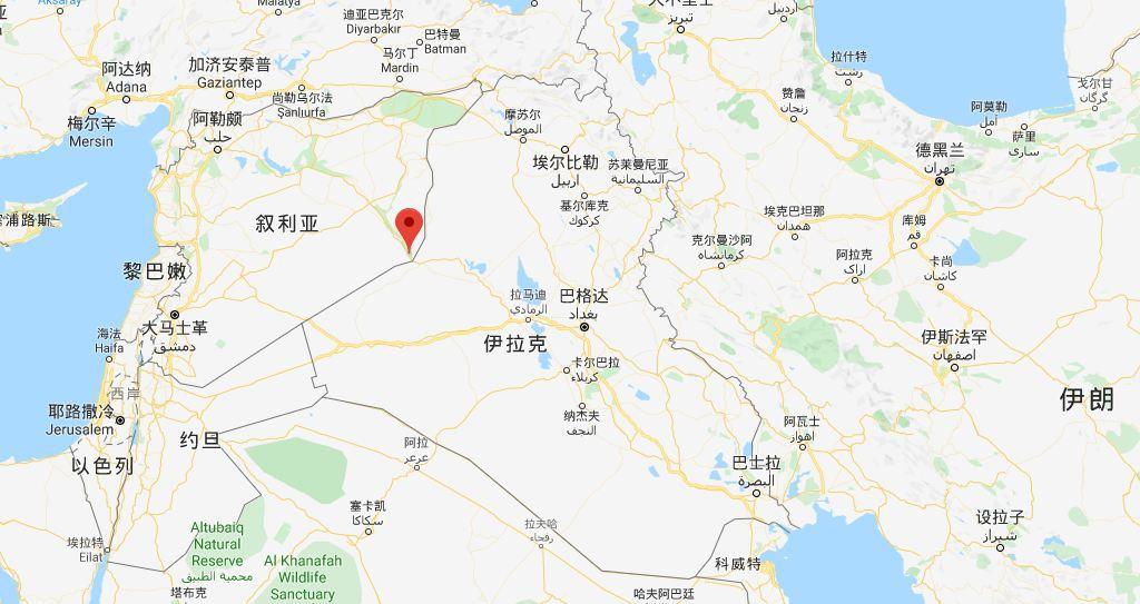 报道中袭击发生的地点阿布凯马勒(Al Bukamal)