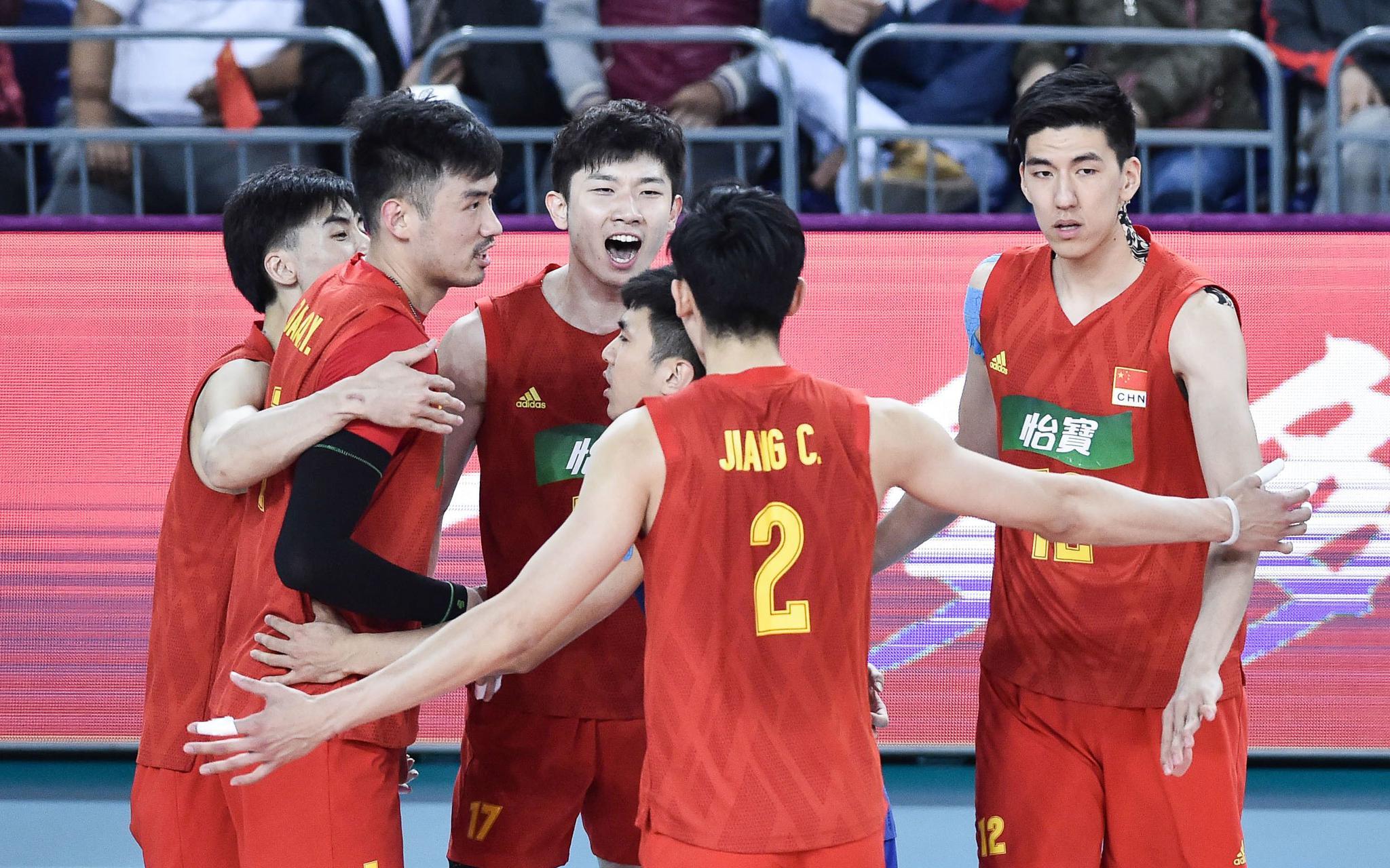 """中国男排3比1力克卡塔尔,将与伊朗争夺""""奥运门票""""图片"""