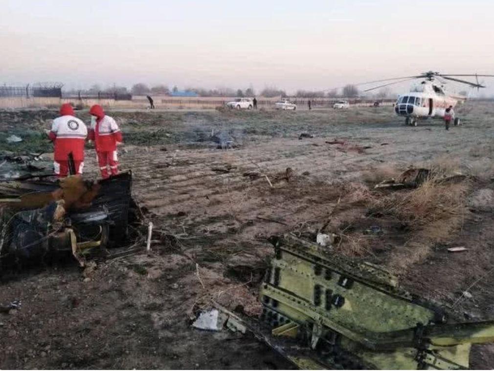 乌克兰客机在德黑兰坠毁现场