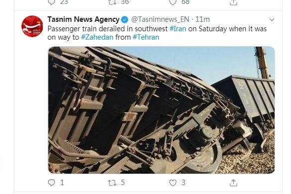 快讯!伊朗西南部一客运列车发生脱轨