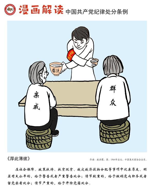 漫说党纪119 | 厚此薄彼图片