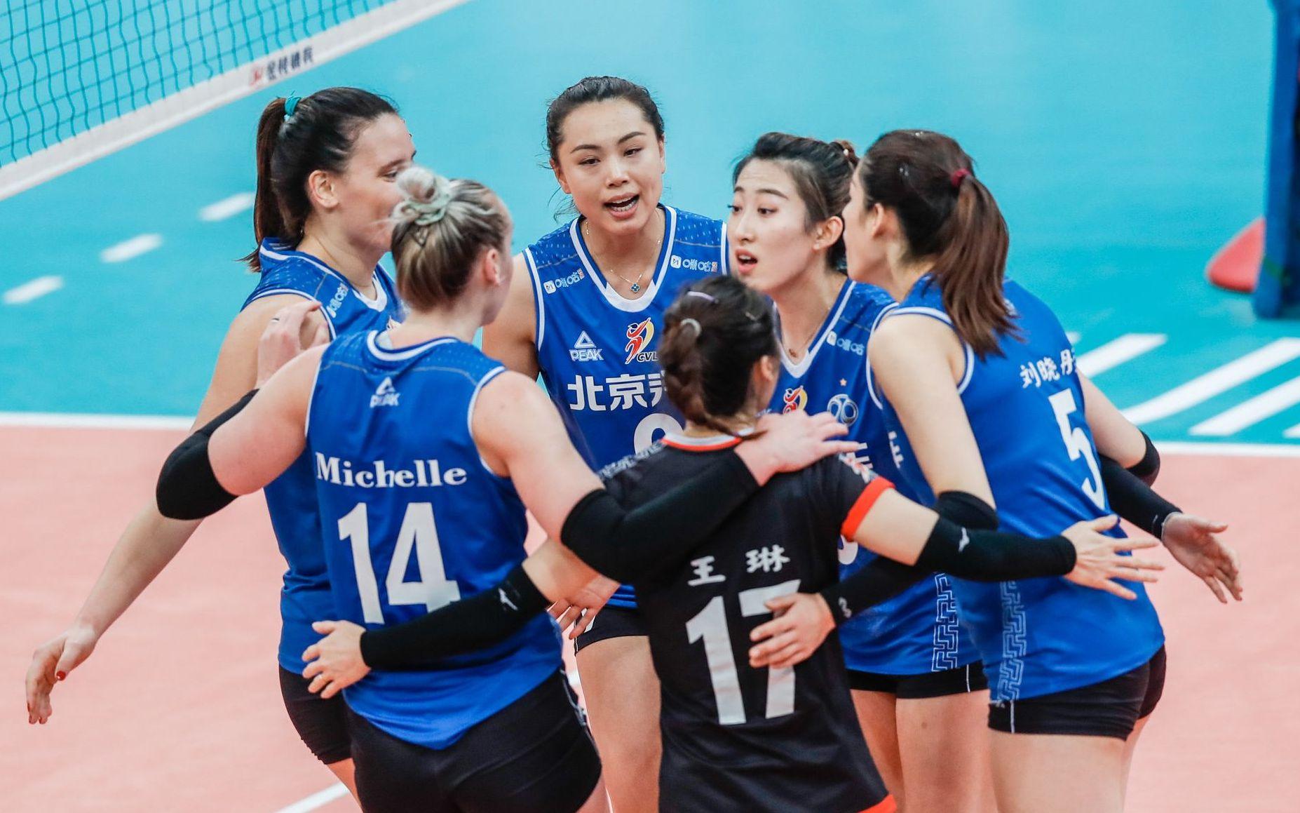 北京女排提前一轮锁定赛季铜牌,全队4人得分上双图片