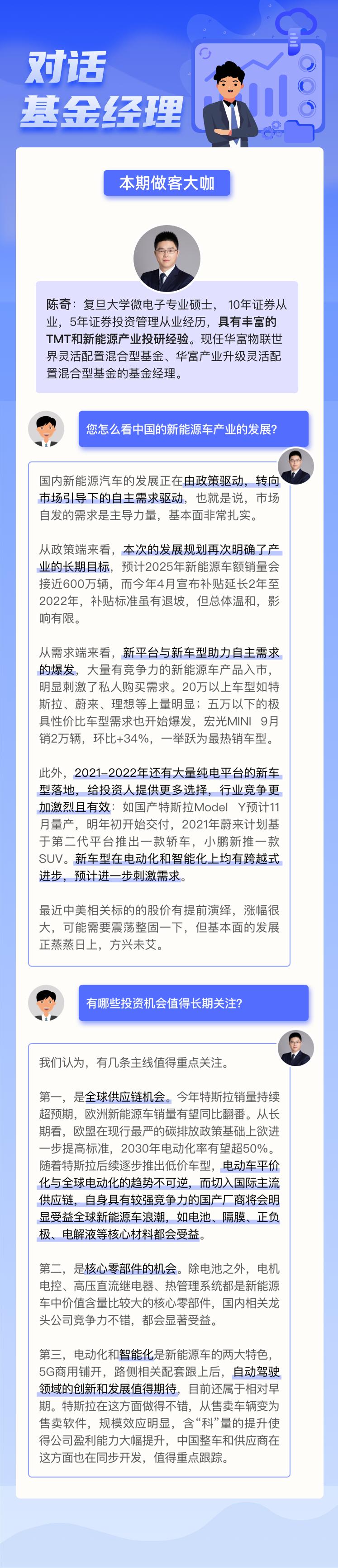 华富基金陈奇:新能源车正由政策驱动转向市场引导下的自主需求驱动