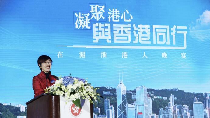 新任香港驻沪办主任首次受访 透露林郑一个重要消息图片
