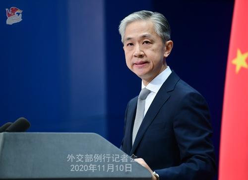 2020年11月10日外交部发言人汪文斌主持例行记者会图片
