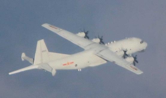 """本月第8次!解放军军机今日再进入台西南空域,绿媒宣称""""频率略降""""图片"""