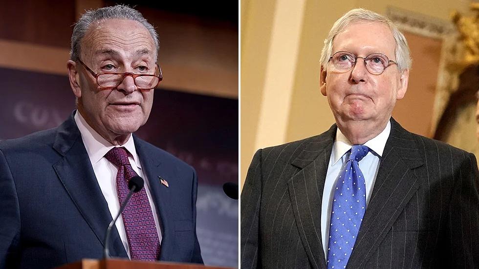 麦康奈尔、舒默再次当选美国参议院两党领袖