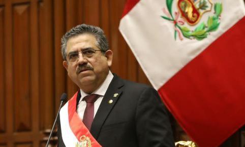 梅里诺宣誓就职秘鲁总统 任期明年7月