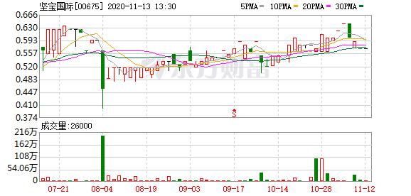 坚宝国际(00675-HK)获主席兼执董赖培和增持17.8万股