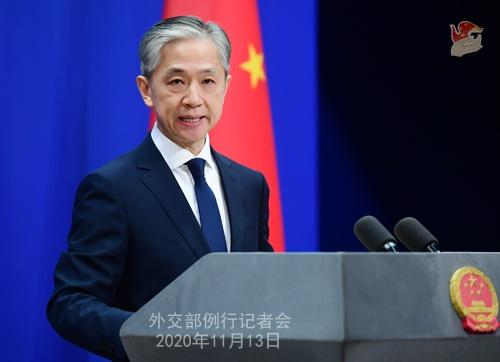 2020年11月13日外交部例行记者会(全文)