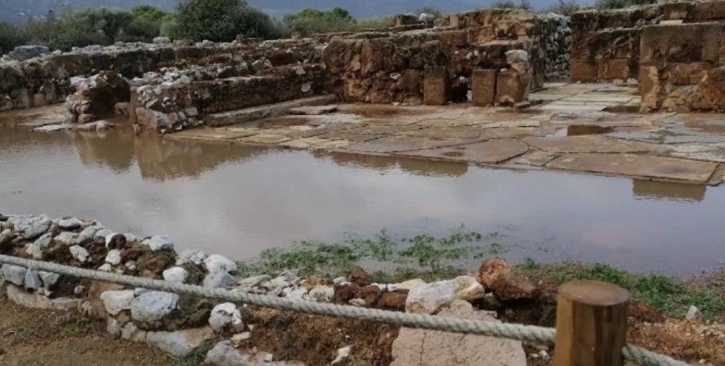 """著名考古遗址变""""水宫""""!希腊克诺索斯迷宫遭遇洪涝"""