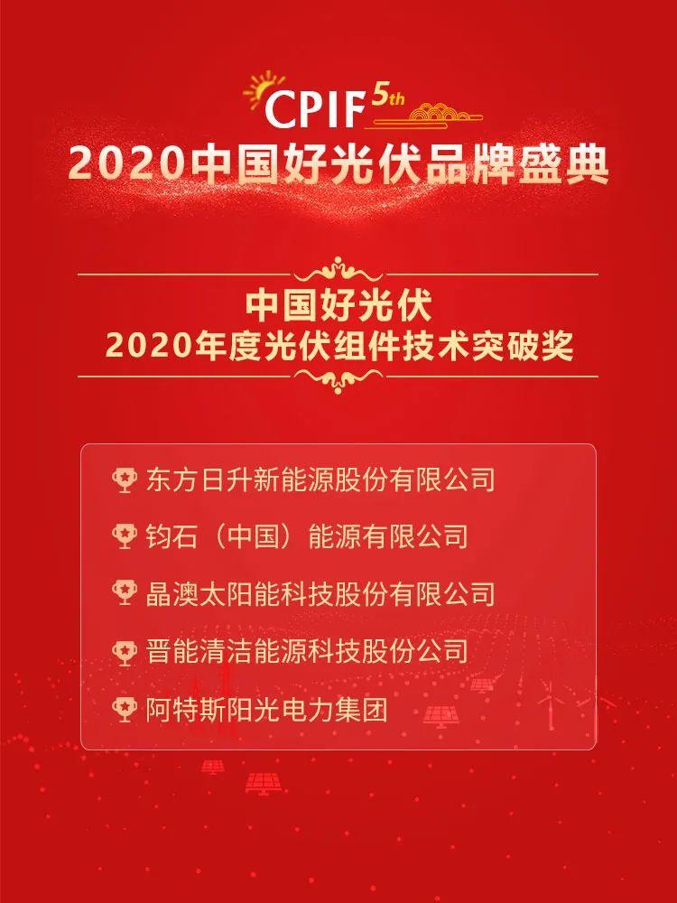 2020年度22项中国好光伏品牌大奖正式揭晓!
