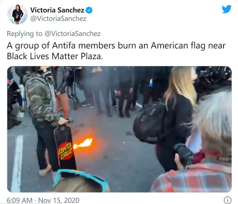 华盛顿游行冲突升级,美媒:有人扔鸡蛋、烧国旗……