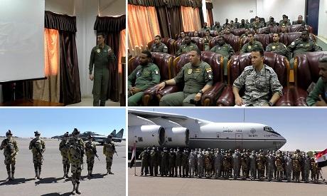 """埃及和苏丹空军联合举行代号""""尼罗河鹰1""""军事演"""