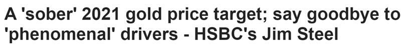 """更为""""清醒""""的黄金目标!投行:拜登政府这一转变恐对金价不利"""