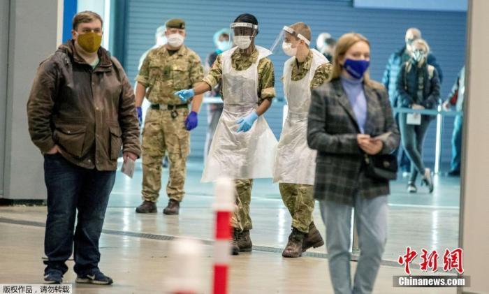 資料圖:當地時間11月6日,英國政府在利物浦市嘗試實施整個城市范圍內的大規模新冠病毒檢測。