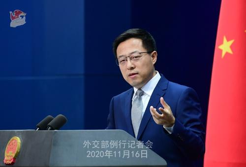 2020年11月16日外交部发言人赵立坚主持例行记者会图片