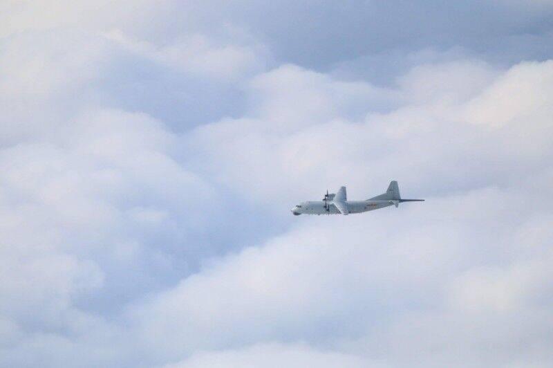 台防务部分宣布的运-8反潜机图片