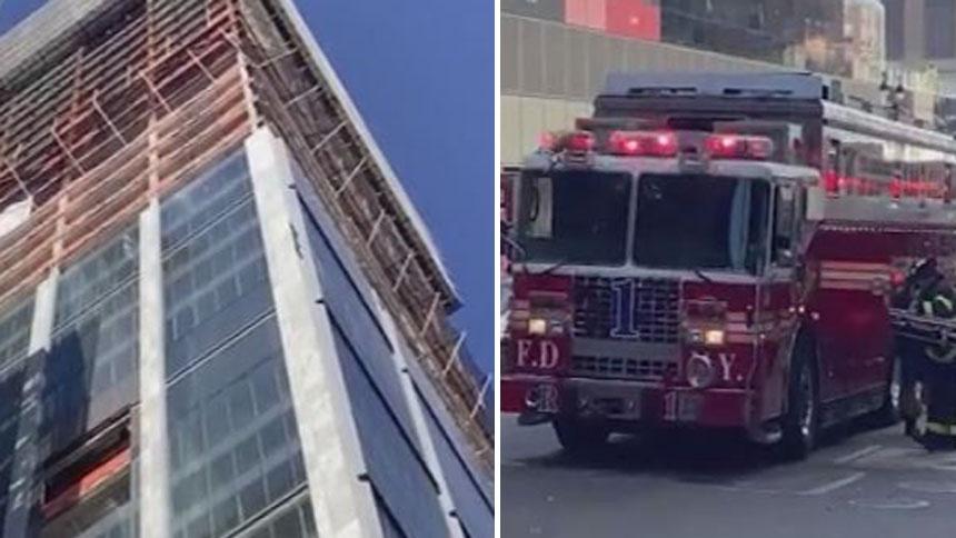 脚手架失灵 美国两名干净工在地面上涨15层楼(图1)