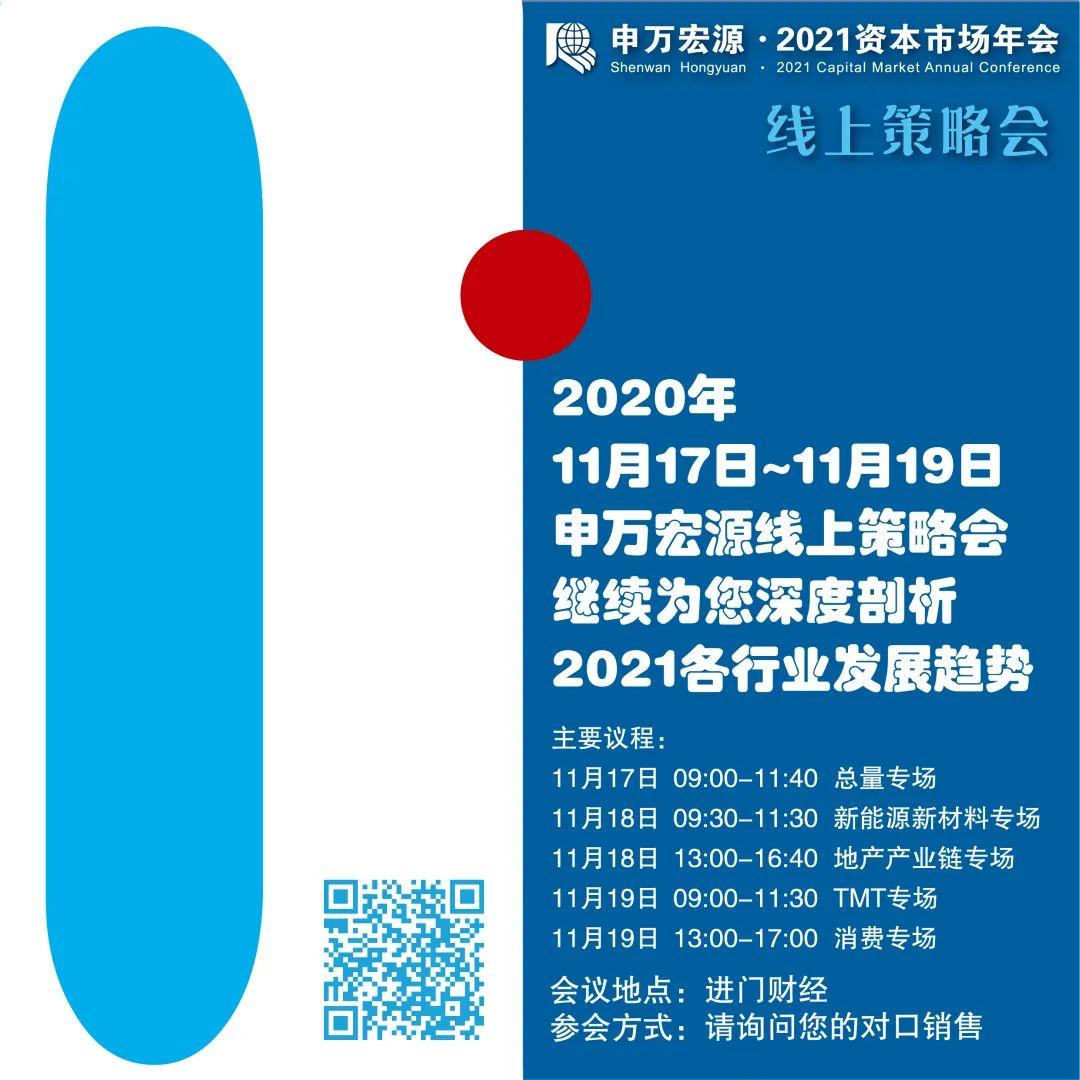 精华继续:申万宏源2021资本市场年会线上策略会