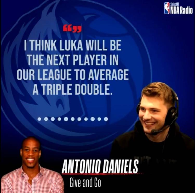 安东尼奥-丹尼尔斯:东契奇将成为下一位场均三双的球员